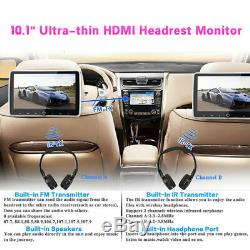 10.1 Headrest DVD Player Car Multimedia Back Seat Entertainment Monitor 1080P