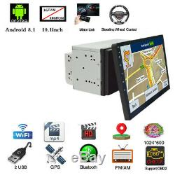 10.1 inch Android 8.1 2Din Car Stereo Radio GPS Wifi OBD Mirror Link BT 3G/4G