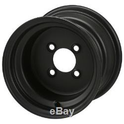 10 Solid Black Steel Wheels And 20x10-10 Dot All Terrain Tires Combo Set 4