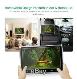 10'' TFT LCD Screen Car Headrest Monitor DVD Player Touch Button+USB/SD/HDMI/FM