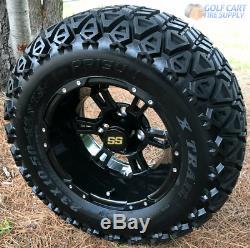 12 Ruckus Gloss Black Wheels And 23x10.5-12 All Terrain Dot Tires Combo-set-4