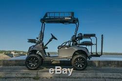 14 Hd Saw Blk Machined Golf Cart Wheels 22 Overkill Tires Ezgo Yamaha Club Car