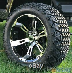 14 Ruckus Machined/black Wheel And 23x10-14 Dot All Terrain Tires Combo-set 4