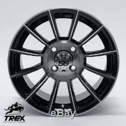 14 Titan Black/machined Golf Cart Wheels Set Of 4