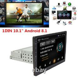 1Din 10.1 Android 8.1 Quad-core Car Stereo GPS Navigation Radio Player WIFI
