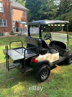 2014 Lifted Club Car Precedent 48 Volt Golf Cart Tan / Black