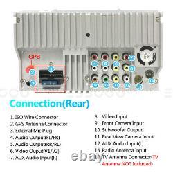2DIN 6.2 Car Stereo Bluetooth Radio DVD Player Navi GPS Mirror Link USB +Camera