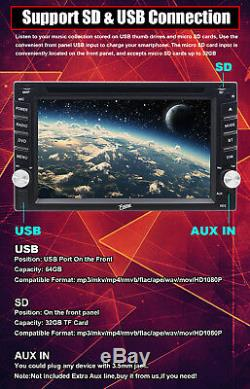 2DIN 6.2 Touchscreen Stereo Car DVD Player Auto Radio GPS Navi With Camera