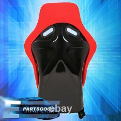 2X Pairs Full Bucket Racing Automotive Cars Seats Spg Profi Style Red Cloth JDM