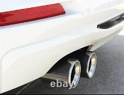 2x Gloss Carbon Fiber Auto Exhaust Pipe Tip ID 2.5 OD3.5 for BMW M3 M4 M5 Car