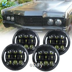 4pcs 5.75 5 3/4inch LED Headlight DRL Assembly High Low Beam For Car Pickup