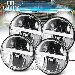 4x Car 5.75'' LED Headlight Fit for Chevrolet Corvette Caprice Impala Kingswood