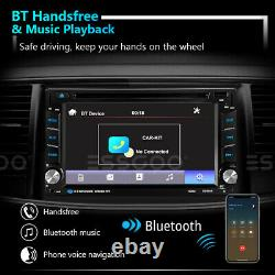 6.2 Car GPS Navigation Radio DVD CD Player 2 DIN In-dash Stereo Touch Screen US