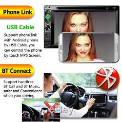 6.2 Touch Screen Car Stereo Radio DVD CD MP5 Player 2DIN USB TF Bluetooth 6620B