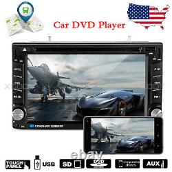 6.2 in Car CD DVD Player Stereo GPS Navi Touch Screen Radio USB AUX Double 2 DIN