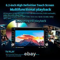 6.2 in Car Stereo Audio DVD CD Player Radio SAT GPS Navigation Mirror Link 2 DIN