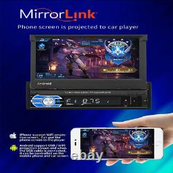 7'' 1DIN Car Stereo Radio Video MP5 Player GPS Bluetooth for Android Retractable