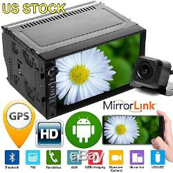 Android 4-Core 7inch Car Stereo Radio GPS Navi WIFI Player USB/TF/AUX/BT In &Cam