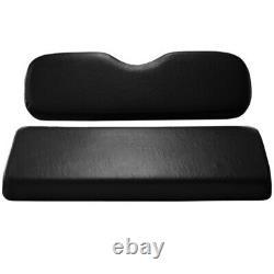 BLACK EZGO CLUB CAR YAMAHA bottom and backrest Cushions Golf Cart Rear Flip Seat