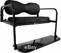 Black Club Car DS (2000 1/2-Up) Golf Cart'MODZ Flip4' Rear Flip Back Seat Kit
