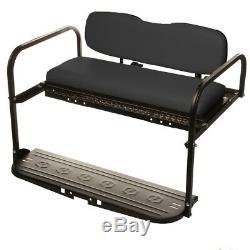 Black Club Car Precedent ('04-UP)Golf Cart All American Rear Flip Seat Kit