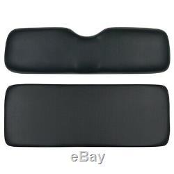 Black Golf Cart Cushion Set for Club Car Rear Flip Seat Kits RHOX Madjax GTW