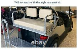 Black Seat Covers Front Rear (4 PCS) Custom Fit For Club Car DS 2000.5 Staple on