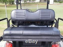Black Seat Covers Front Rear (4 PCS) Custom Fit For Club Car Precedent Staple on
