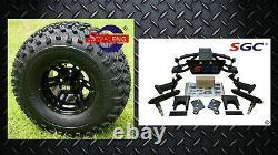 CLUB CAR PRECEDENT GOLF CART 6 SGC A-ARM LIFT KIT + 10 WHEELS and 22 AT TIRES