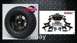 CLUB CAR PRECEDENT GOLF CART 6 SGC A-ARM LIFT KIT + 12 WHEELS and 23 AT TIRES