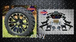 CLUB CAR PRECEDENT GOLF CART 6 SGC A-ARM LIFT KIT + 14 WHEELS and 23 AT TIRES