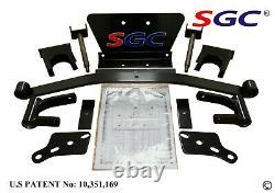 CLUB CAR PRECEDENT GOLF CART SGC 4 BLOCK LIFT KIT + 10 WHEELS and 22 AT TIRES