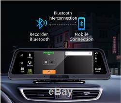 Car Recorder WithCam Dual Lens 4G WiFi GPS 10 IN DVR Dash Cam Video Android 8.1