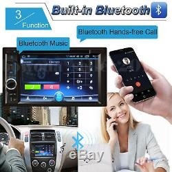 Car Stereo Radio Bluetooth Audio Receiver Double Din 6.2 Touch Screen + Camera