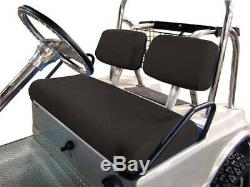 Club Car DS (1979 to 2000.5) Black 3-Piece Vinyl Seat Cover Set for Golf Cart
