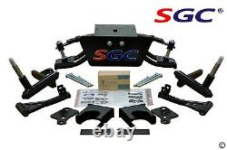 Club Car DS Golf Cart 6 A-Arm Lift Kit + 10 Wheels and 22 AT Tires 1982-2003
