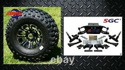 Club Car DS Golf Cart 6 A-Arm Lift Kit + 10 Wheels and 22 AT Tires 2004.5-UP