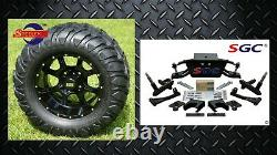 Club Car DS Golf Cart 6 A-Arm Lift Kit + 12 Wheels and 22 M/T Tires 2004.5-up