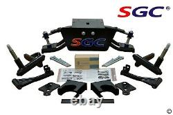 Club Car DS Golf Cart 6 A-Arm Lift Kit + 12 Wheels and 23 AT Tires 2004.5-UP