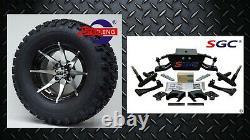 Club Car DS Golf Cart 6 A-Arm Lift Kit + 12 Wheels and 23 Tires (1982-2003)
