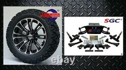 Club Car DS Golf Cart 6 A-Arm Lift Kit + 14 Wheels and 23 AT Tires 1982-2003