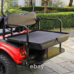Club Car DS Golf Cart Flip Flop Rear Seat Kit Fold Down Back Seat Black Seats