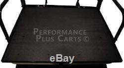 Club Car DS Golf Cart Flip Folding Rear Back Seat Kit for 1982-2000.5 Black