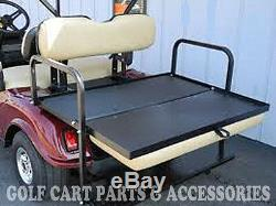 Club Car DS Golf Cart Rear Flip Seat Kit (2000.5 -UP) BLACK SEAT CUSHIONS