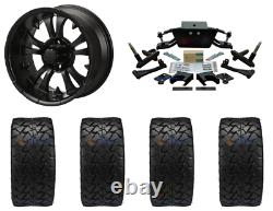 Club Car Ds 6 Double A-arm Lift Kit (04.5-13) + 14 Wheels & 22 At Tires Combo