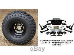 Club Car Ds 6 Double A-arm Lift Kit (82-04.5) + 10 Wheels & 22 At Tires Combo