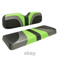 Club Car Ds Front Golf Cart Seat Covers In Lime Green/ Black Fiber/ Charcoal