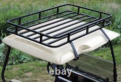 Club Car Ds Roof Storage Rack Black