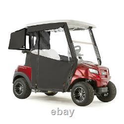Club Car Onward Golf Cart PRO-TOURING Sunbrella Track Enclosure Black