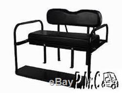 Club Car PRECEDENT Folding Rear Seat Kit With Black Cushions Flip Down Rear Seat